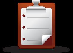 web icon medical checklist